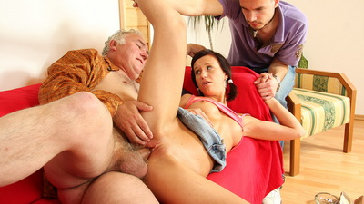 Natalia is a naughty girl who looks more than ready to take an old guy in her mouth