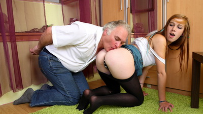 Sindy gets more than she bargained for with this old dude